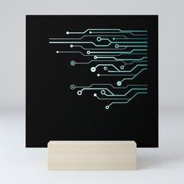 Computer Circuit Engineer Computer Nerd Mini Art Print