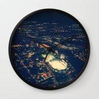 ohio state Wall Clocks featuring Ohio State by Alisha Williams
