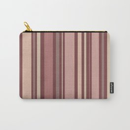 Striped Pattern (quiet shades of brown) Carry-All Pouch