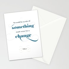 If something made sense Stationery Cards