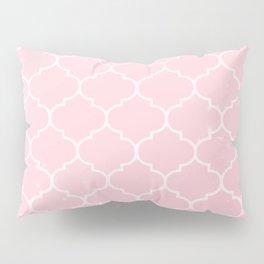 Pink Lattice Pattern Pillow Sham