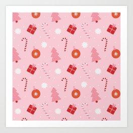 Christmas Fun - Pink Palette  Art Print