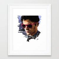 darren criss Framed Art Prints featuring Darren by Monika Gross