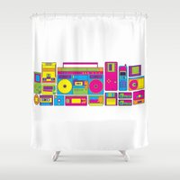 90s Shower Curtains featuring 90s by sknny