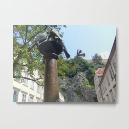 Graz Doves Metal Print