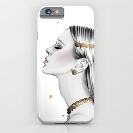 dripping in gold iPhone Case