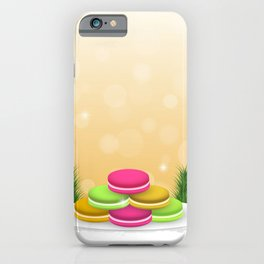 Christmas macaron #colorful #candy iPhone Case