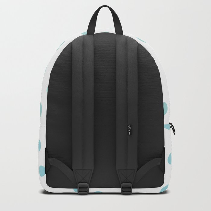 Simply Dots in Turquoise Green Blue Gradient on White Backpack