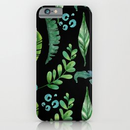 Green Foliage - A collection of Leaves iPhone Case