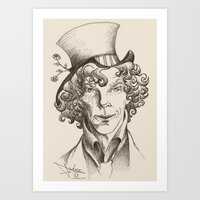 mad hatter Art Prints featuring Mad Hatter by TheScienceofDepiction