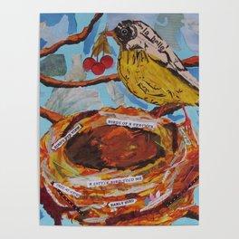 La Belle Bird & Nest Poster