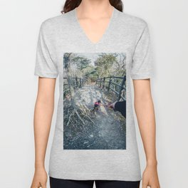 Follow me to - Holiday Adventure in Forest / Dreamer's Vision Unisex V-Neck