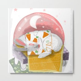 The Rabbit Diaries: Sleep and Dream (c) 2017 Metal Print