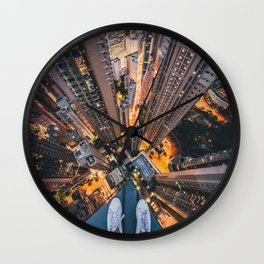 Nightscape The Drop Wall Clock