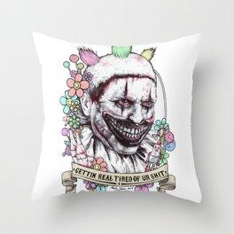 xoxo Twisty (color) Throw Pillow