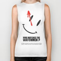 watchmen Biker Tanks featuring The Watchmen (Super Minimalist series) by Itomi Bhaa