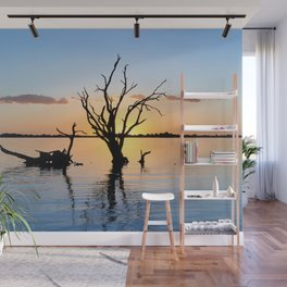 Sunset Silhouette Wall Mural