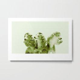Monochrome - the lemur honeytrap Metal Print