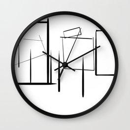 Minialist Black and White Wall Clock