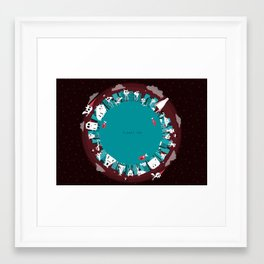 Planet Two Framed Art Print