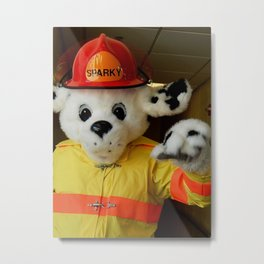 Sparky, the fire dog Metal Print