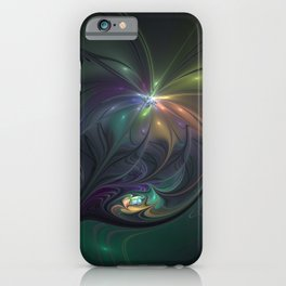 Delightful Fantasy, Abstract Fractal Art iPhone Case
