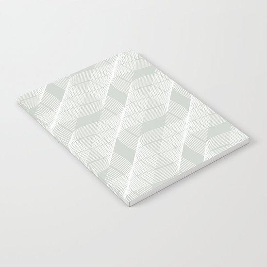 Gray Grey Helix Sea Salt Notebook