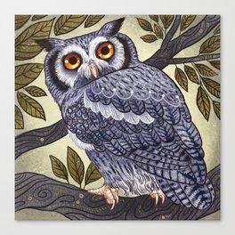 White Faced Owl Canvas Print