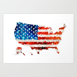 Map of The United States Of America 23 - Sharon Cummings Art Print