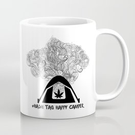 Hash Tag Happy Camper Coffee Mug