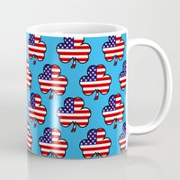patriots Mugs featuring American Shamrock by The Wellington Boot