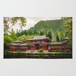 Temple at Sunrise Rug