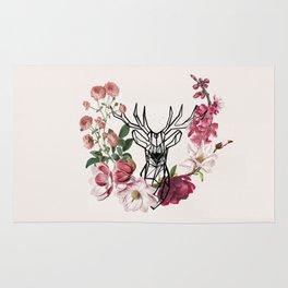 stag in bush Rug