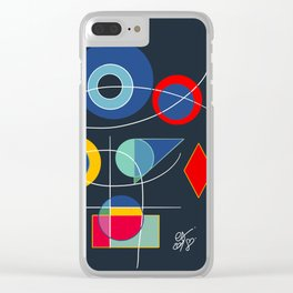 Joyful Abstract Composition Art Clear iPhone Case