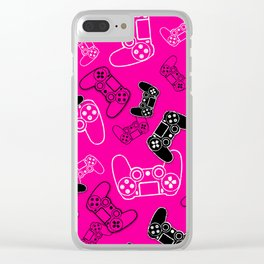 Video Games Pink Clear iPhone Case
