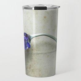 Bent Spoon and Flowers Travel Mug