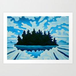 Blue Totem No.2 Art Print