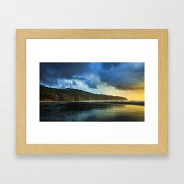 Cape Lookout Thunderstorm at Sunset Framed Art Print