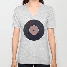 Vinyl Record Star Sign Art | Capricorn Unisex V-Neck