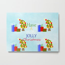 Holly Jolly Christmas Metal Print