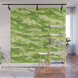 Green Kelp Camo Pattern Wall Mural