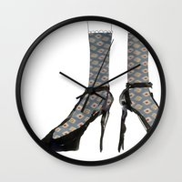 shoes Wall Clocks featuring Shoes by Manon Dasiy Fraiture