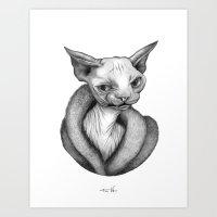 sphynx Art Prints featuring Sphynx by Tim Van Den Eynde
