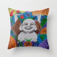 buddah Throw Pillows featuring WEDDING BUDDAH-2 by Manuel Estrela 113 Art Miami