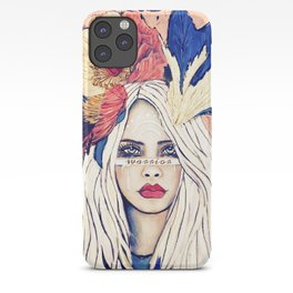 WARRIOR GIRL PAINTING iPhone Case