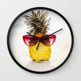 cool pineapple Wall Clock