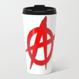 Red Anarchy Symbol Travel Mug