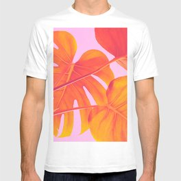Monstera Quench - Pink & Orange T-shirt