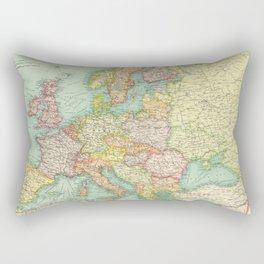 Vintage Map of Europe (1922) Rectangular Pillow