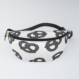 Postmodern Pretzels in Black + White Fanny Pack